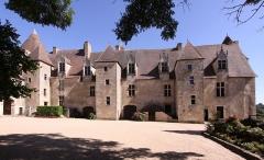 Eglise paroissiale Saint-Martial - Deutsch: Burg Culan im französischen Département Cher - Hofseite