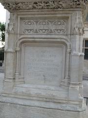 Monument à Jacques Coeur - English: Jacques Coeur monument in Bourges