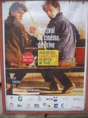 Cinéma Rex - English: Poster of the 9 th medium-lenght film Festival, Cinema Rex, Brive la Gaillarde, 2012 04 15