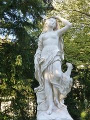 Réservoir Darcy et jardin Darcy, y compris ses clôtures et la fontaine de la Jeunesse - Jardin Darcy à Dijon.