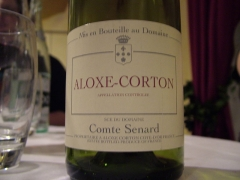 Château de Corton-André -  A bottle of the French wine Burgundy noting that it was bottled at the estate and not by a Co-op or negociant