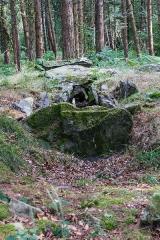 Sépulture mégalithique dite dolmen de Corn-er-Houët - Français:  Dolmen de Corn-er-Houët (Caurel, France).