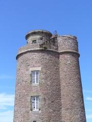 Phares du Cap Fréhel -  Leuchtturm am Cap Frehel - im 17. Jahrhundert vom Baumeister Vauban erbaut. Cote de Emeraude, village Plevenon im Departement Cote de Armor, Region Bretagne gelegen