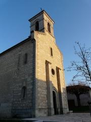 Eglise Saint-Méard - Français:   L\'angle nord-ouest de l\'église Saint-Méard, Saint-Méard-de-Drône, Dordogne, France.