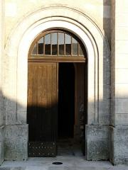 Eglise Saint-Méard - Français:   Le portail de l\'église Saint-Méard, Saint-Méard-de-Drône, Dordogne, France.