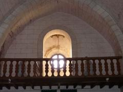 Eglise Saint-Méard - Français:   La tribune de l\'église Saint-Méard, Saint-Méard-de-Drône, Dordogne, France.
