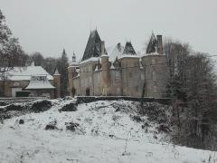 Château de Rouffiac - Château de Rouffiac 16-17e siècle remanié 19e siècle Figure inquiétante pente Nord dans la lumière de l'hiver
