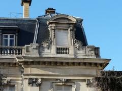 Hôtel Brou de Laurière - Français:   Lucarne nord-est de l\'hôtel Brou de Laurière, Périgueux, Dordogne, France.