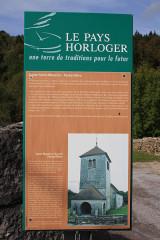 Eglise Saint-Maurice de Fessevillers - Deutsch: Informationstafel über die Kirche
