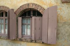 Maison de Monte au Lever - Français:   Détail d\'une fenêtre à Monte au Lever.