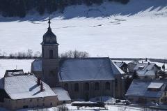 Eglise paroissiale - Français:   Église de l\'Assomption de Mouthe en hiver