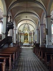 Eglise paroissiale - Français:   Intérieur de l\'église de l\'Assomption de Mouthe (Doubs)