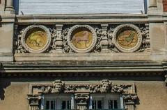 Ancien clos Genest : villa des Cigales et villa Margot - Français:   Valence (Drôme, France), Clos Genest, Villa Margot (1904): détail de décor de la grande baie principale.