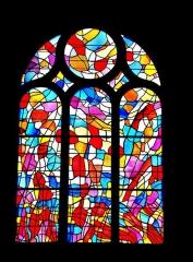 Ateliers de fabrication de vitraux, dits Ateliers Lorin - Français:   Vitrail de Manessier, dans la chapelle Notre-Dame des Ermites. Eglise de Pontarlier. Doubs