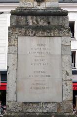 Monument à Marceau dit «Colonne Marceau» - Français:   Colonne Marceau, cartouche est, Chartres, Eure-et-Loir (France).