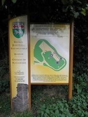 Château de Penhoat - Français:   Plan des ruines du château de Penhoat en Saint-Thégonnec (29).