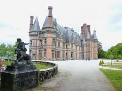 Ancien pavillon de chasse de Moniven - Français:   Le château de Trévarez, façade avant (façade sud)