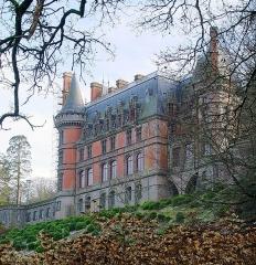 Ancien pavillon de chasse de Moniven - Deutsch:   Saint-Goazec (Bretagne, Finistère) Château de Trévarez, façade nord.