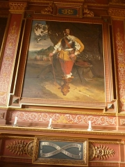 Château de Pérennou - Français:   Plomelin: décor intérieur d\'une des salles du château du Perennou