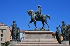 Monument commémoratif Napoléon et ses frères - Deutsch: Ajaccio, Place De Gaulle-Statues de Napoléon avec ses quatre frères
