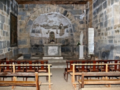 Statue du cardinal Fesch -  Cambia - intérieur église Santa Maria (13e siècle)