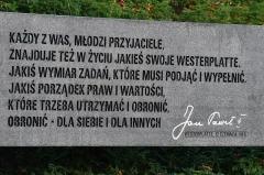 Eglise ou oratoire Saint-Roch - Polski: Westerplatte. Polska. Tablica ze słowami św. Jana Pawła II: