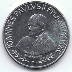 Eglise ou oratoire Saint-Roch - Italiano: 100 Lire - Città del Vaticano