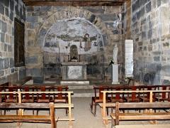 Chapelle Santa Maria -  Cambia, Vallerustie (Corse) - intérieur église Santa Maria (13e siècle)