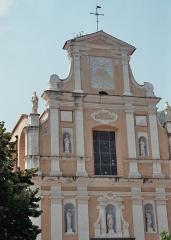 Eglise paroissiale Notre-Dame-de-l'Annonciation (Santa-Maria-Assunta) - Français:   Façade de l\'église de Muro (Haute-Corse)