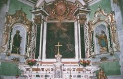 Eglise paroissiale Notre-Dame-de-l'Annonciation (Santa-Maria-Assunta) - Français:   Église Santissima Annunziata de Muro (Haute-Corse): l\'autel du maître-autel est classé MH.