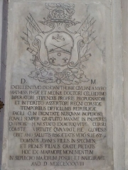 Eglise paroissiale Notre-Dame-de-l'Annonciation (Santa-Maria-Assunta) - Français:   Pierre tombale dans l\'église de Muro (Haute-Corse). L\'inscription latine date de 1788.