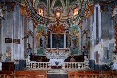 Eglise paroissiale Notre-Dame-de-l'Annonciation (Santa-Maria-Assunta) -  Muro, Balagne (Corse) - Maître-autel de l'église Santissima Annunziata