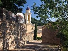 Chapelle Sainte-Croix - Français:   Poggio-d\'Oletta, Nebbio (Corse) - Accès à l\'église San Cervone et à la chapelle de confrérie Santa Croce