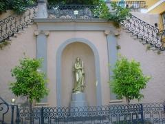 Ensemble constitué de la rampe Saint-Charles, de l'escalier et du jardin Romieu -  Bastia - Citadelle - golden statue