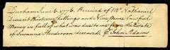 Ensemble constitué de la rampe Saint-Charles, de l'escalier et du jardin Romieu - English: A signed check by John Adams (2nd President of the United States) while serving as a Massachusetts delegate to the Second Continental Congress.