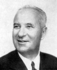 Ancien hospice devenu palais des arts, puis agrandi en lycée, actuel lycée Alphonse Daudet - English: Gaston Defferre (1910-1986), French politician