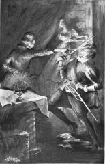 Château - English: Illustration of Marlowe killing Frazer from the novel It Was Marlowe