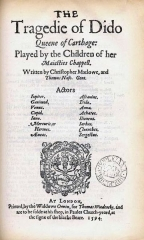 Château - English: Title page of Dido Queen of Carthage by Ch. Marlowe