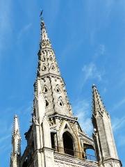 Eglise Saint-Jean - Français:   La flèche du clocher de l\'église Saint-Jean, Libourne, Gironde, France