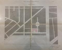 Hôtel des archives départementales de la Gironde - English: Plan du projet de construction de Pierre-August Labbé du 12 novembre 1859