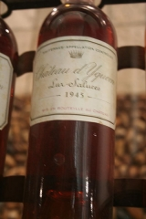 Château d'Yquem -  An example of the color change that the white French dessert wine from Bordeaux goes through.