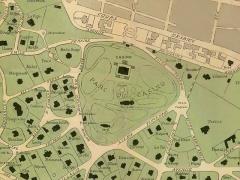 Casino mauresque - Deutsch: Ausschnitt aus dem Plan der Winterstadt von Arcachon rund um das ehemalige Kasino, heute Parc Mauresque