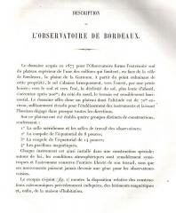 Observatoire aquitain des sciences de l'univers -  description de l'observatoire de Bordeaux en 1885