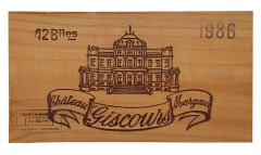 Château Giscours - English: Part of a wooden crate of Château Giscours 1986, picture taken in Belgium.