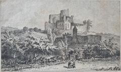 Maison de la cité Frugès - Vue du château de Langoiran (Gironde)