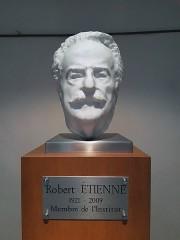 Faculté de médecine et de pharmacie - Español: Retrato de mármol de Robert Étienne (1921-2009).