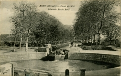 Canal du Midi (écluse ronde) - English: A picture postcard showing an early photo of the round lock at Agde