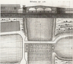Canal du Midi - English: Elevation and plan of the