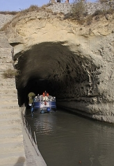 Tunnel-aqueduc de drainage de l'étang de Colombiers et Montady ou tunnel des Moines ou Aqueduc de Montady ou Aqueduc de Malpas - Français:   Tunnel du Malpas
