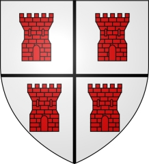 Ancienne abbaye de la Vieuville - English: Coat of arms (shield) of the French abbey Our Lady of the Vieuville near Saint-Malo.